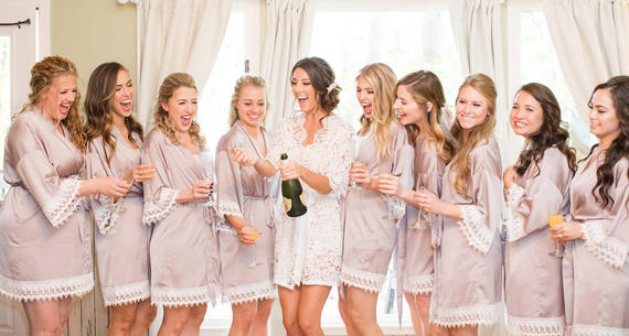 Bridal Party Opening Champagne