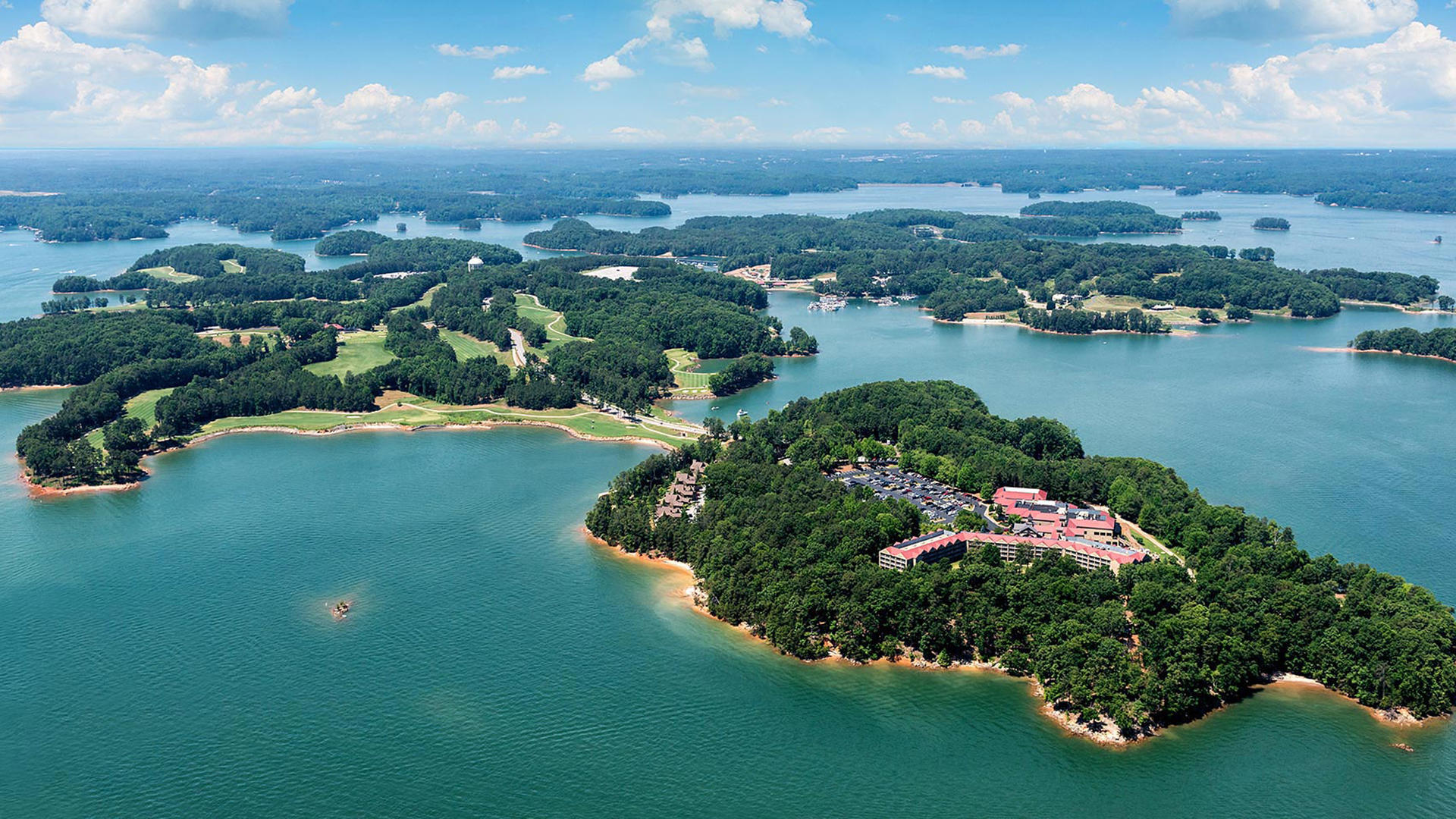 Aerial View of Lanier Islands